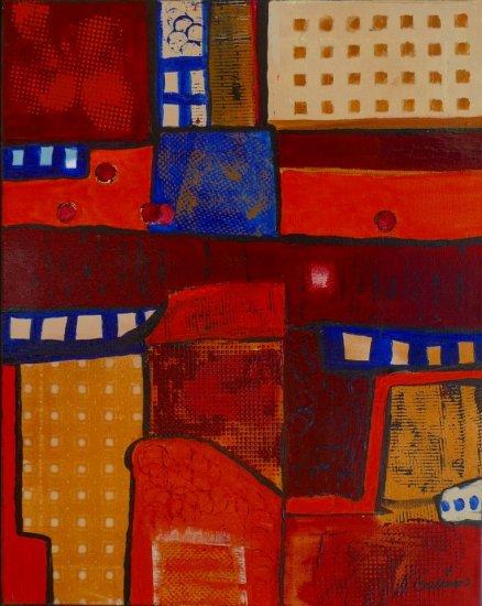 Around the Corner, Acrylic on canvas by Nancy Stella Galianos