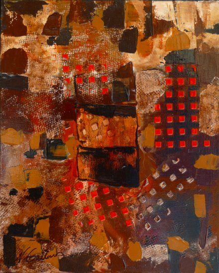 Intersection, Acrylic on canvas by Nancy Stella Galianos