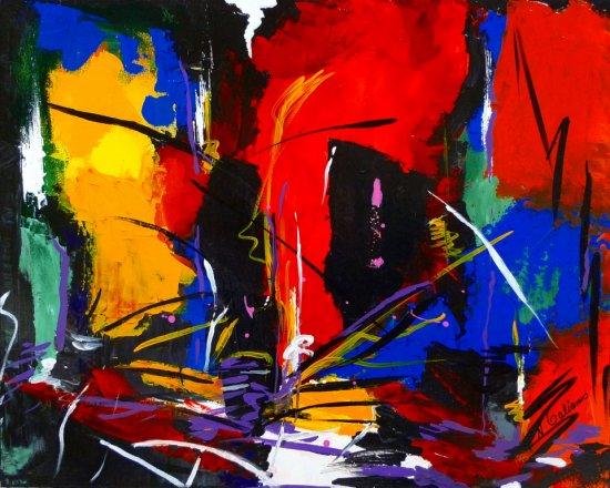 Accumulated Emotion, Acrylic on canvas by Nancy Stella Galianos