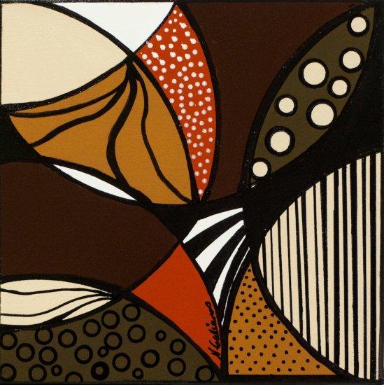 Earthy Mosaic 2, Acrylic on canvas by Nancy Stella Galianos