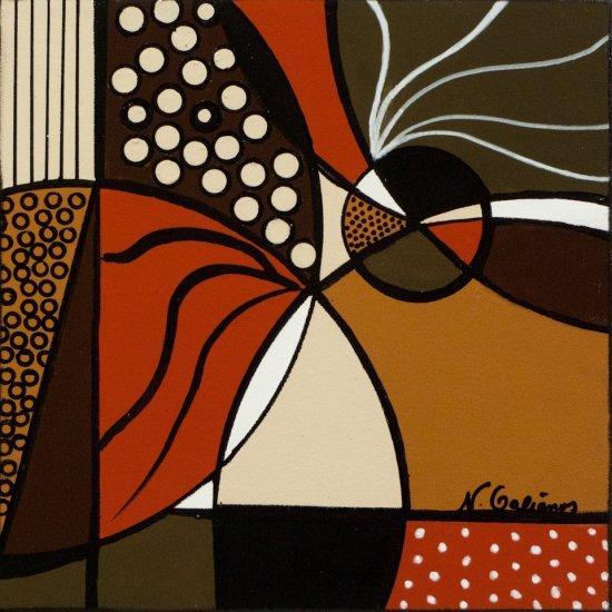 Earthy Mosaic 3, Acrylic on canvas by Nancy Stella Galianos