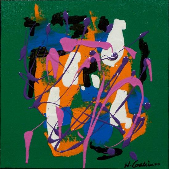 Colour Mood 1, Acrylic on canvas by Nancy Stella Galianos