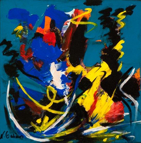 Colour Mood 7, Acrylic on canvas by Nancy Stella Galianos