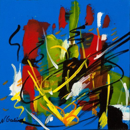 Colour Mood 6, Acrylic on canvas by Nancy Stella Galianos