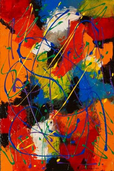 Mardi Gras, Acrylic on canvas by Nancy Stella Galianos
