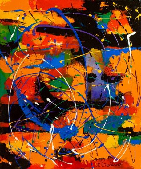 Carnival, Acrylic on canvas by Nancy Stella Galianos