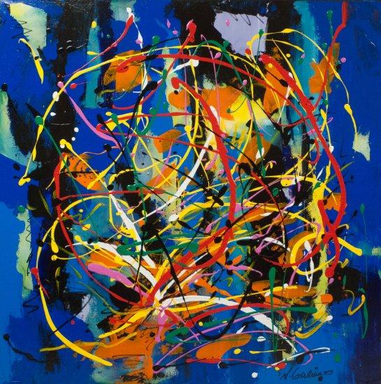 Jazz Fireworks, Acrylic on canvas by Nancy Stella Galianos