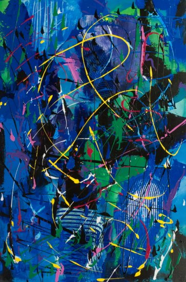 Space-Time, Acrylic on canvas by Nancy Stella Galianos