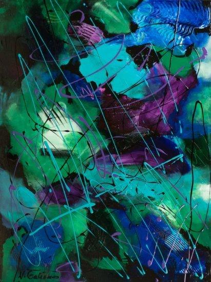 Rain Forest, Acrylic on canvas by Nancy Stella Galianos