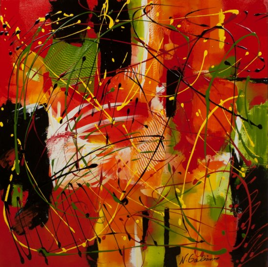 Hot Tropical Afternoon, Acrylic on canvas by Nancy Stella Galianos