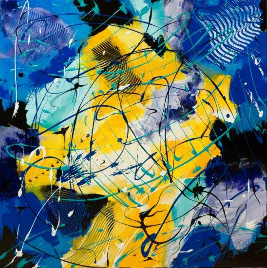Melting Lights, Acrylic on canvas by Nancy Stella Galianos