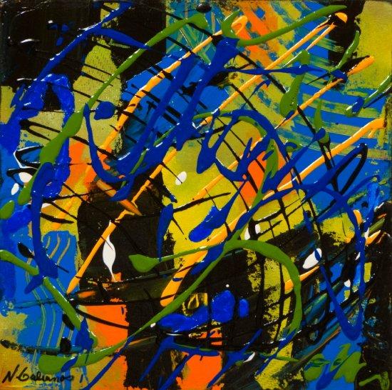 Colour Mood 8, Acrylic on canvas by Nancy Stella Galianos