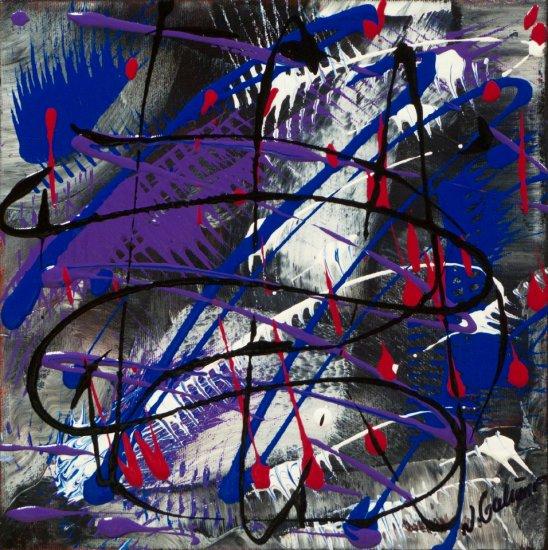 Colour Mood 9, Acrylic on canvas by Nancy Stella Galianos