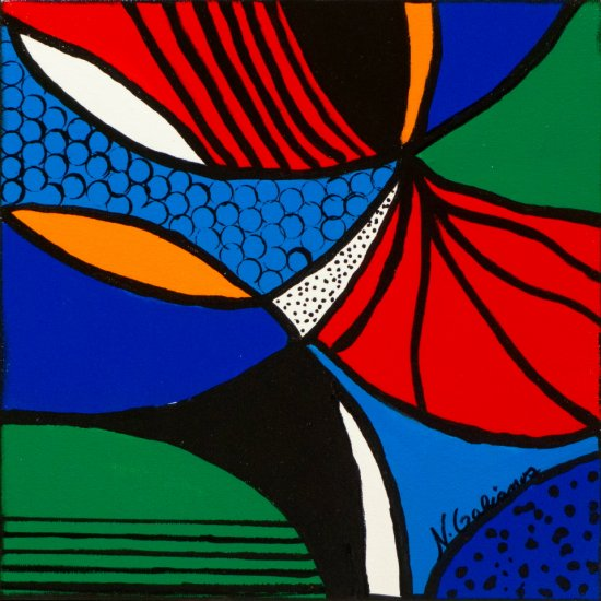 Having Fun 6, Acrylic on canvas by Nancy Stella Galianos