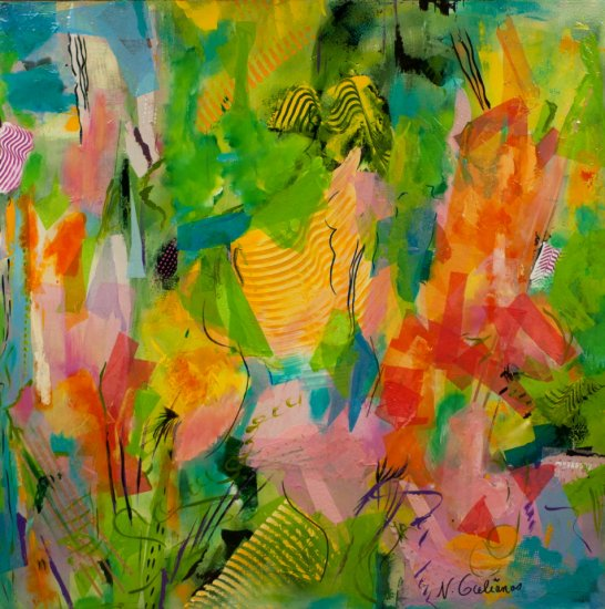Summer Joy, Mixed media on canvas by Nancy Stella Galianos