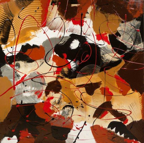 Warm Autumn Feelings, Acrylic on canvas by Nancy Stella Galianos