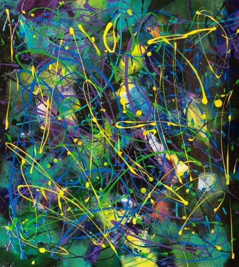 Celestial Dance, Acrylic on canvas by Nancy Stella Galianos