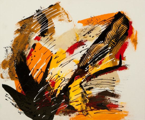 Splashes of Autumn, Acrylic on canvas by Nancy Stella Galianos