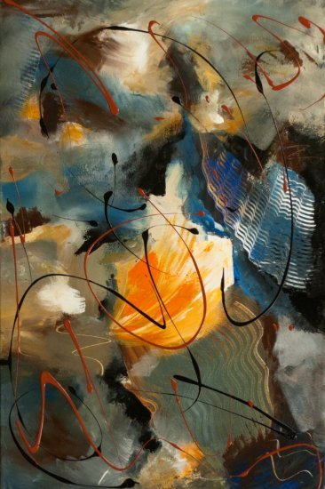 Reef of gold, Acrylic on canvas by Nancy Stella Galianos