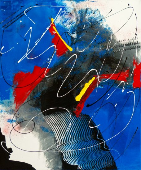 Crazy Dance in the Skies, Acrylic on canvas by Nancy Stella Galianos