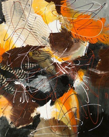 Flaming Energy 2, Acrylic on canvas by Nancy Stella Galianos