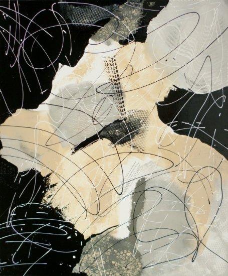 Magie noire 1, Acrylic on canvas by Nancy Stella Galianos