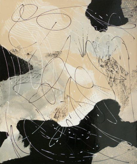 Magie noire 2, Acrylic on canvas by Nancy Stella Galianos