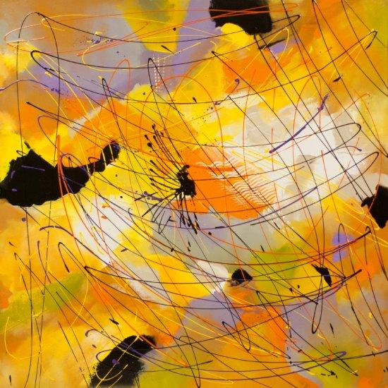 Embracin a New Day, Acrylic on canvas by Nancy Stella Galianos