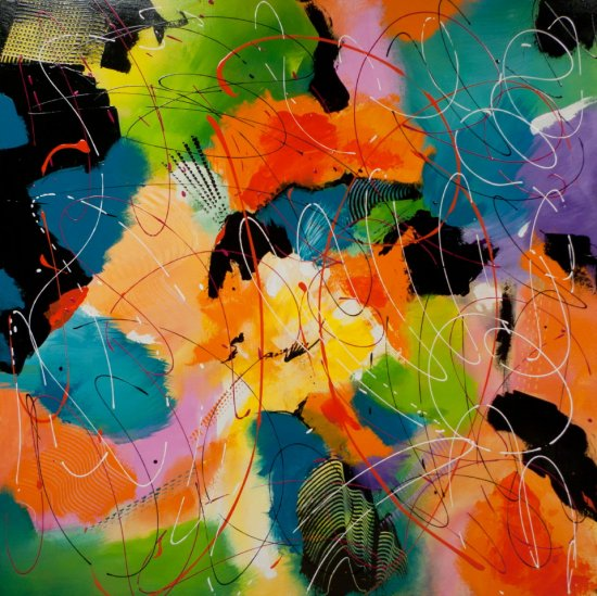 Tzigane Composition, Acrylic on canvas by Nancy Stella Galianos