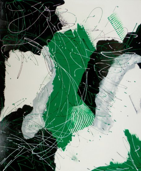 Green Space, Acrylic on canvas by Nancy Stella Galianos