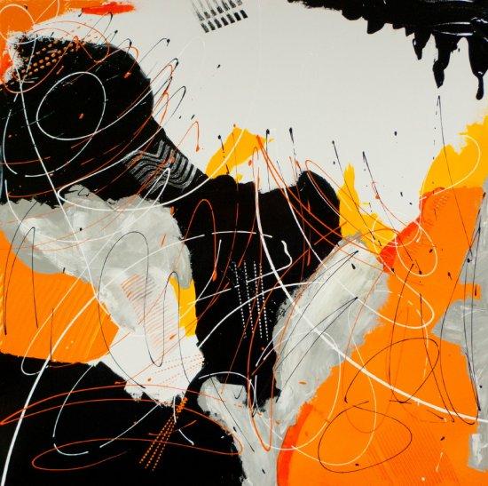 Orange Zest, Acrylic on canvas by Nancy Stella Galianos