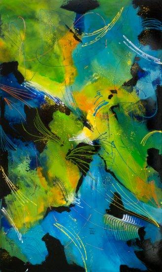 Dream Catcher, Acrylic on canvas by Nancy Stella Galianos