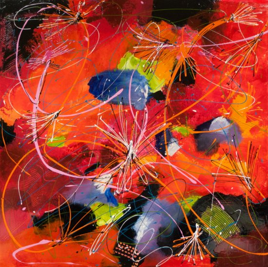 Sound Vibrations, Acrylic on canvas by Nancy Stella Galianos