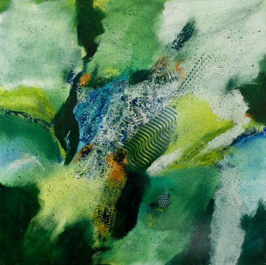 Evergreen, Acrylic on canvas by Nancy Stella Galianos