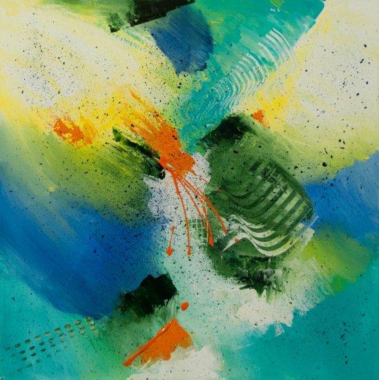 Seaside Afternoon, Acrylic on canvas by Nancy Stella Galianos