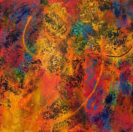 Butterfly Path, Acrylic on canvas by Nancy Stella Galianos