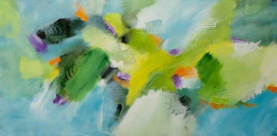 Summer Fun, Acrylic on canvas by Nancy Stella Galianos