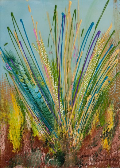 Bluestem, Acrylic on canvas by Nancy Stella Galianos