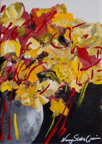 Golden Spring, Acrylic on canvas by Nancy Stella Galianos