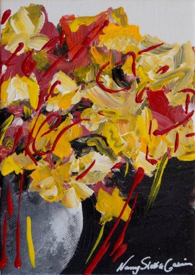 Golden Spring, Acrylic on canvas by Nancy Stella Galianos