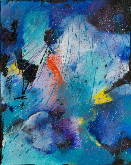 Out of the Blue, Acrylic by Nancy Stella Galianos