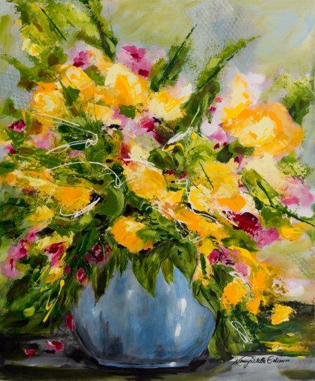 Summer Bouquet, Acrylic on canvas by Nancy Stella Galianos