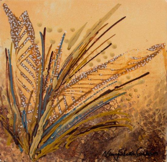 Brown Maidenhair, Acrylic on canvas by Nancy Stella Galianos