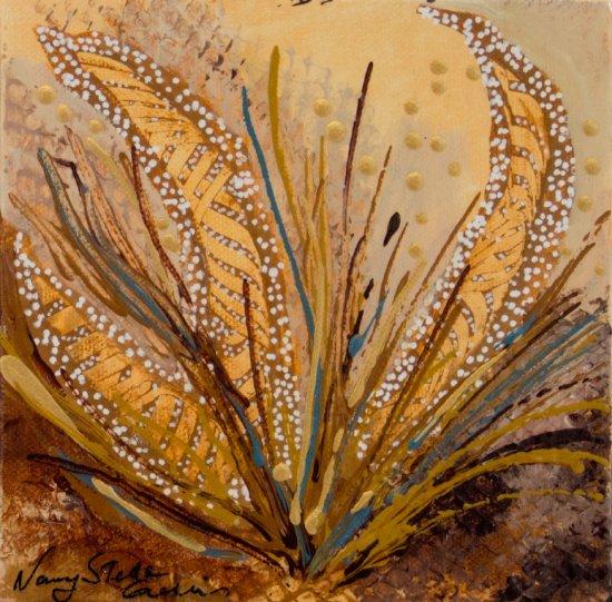 Brown Nolina, Acrylic on canvas by Nancy Stella Galianos