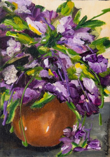 Violaceous, Acrylic on canvas by Nancy Stella Galianos