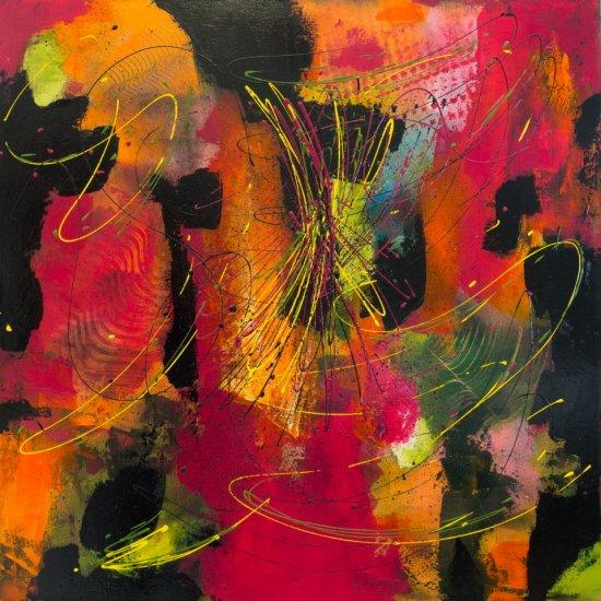 Rising Spirit, Acrylic on canvas by Nancy Stella Galianos