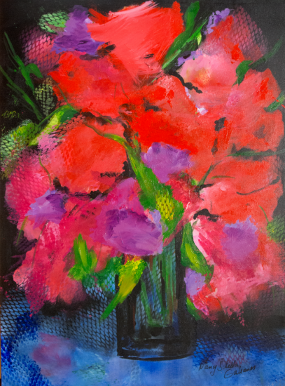 Full Bloom, Acrylic on canvas by Nancy Stella Galianos