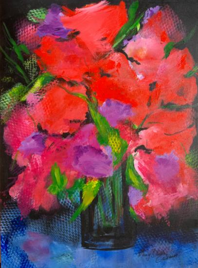 Full Bloom, Acrylic on canvas by Nancy Stella Galianos