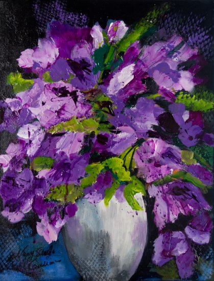 Purple Passion, Acrylic on canvas by Nancy Stella Galianos