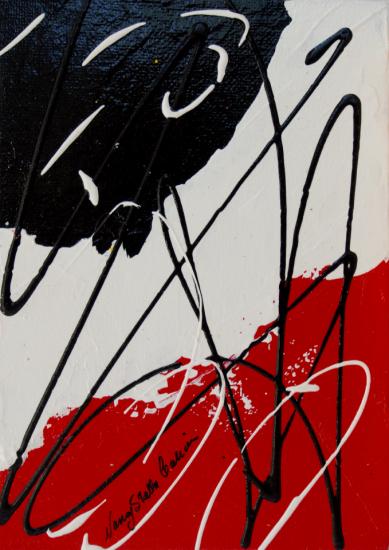 Rouge et Noir S15, Acrylic on canvas by Nancy Stella Galianos
